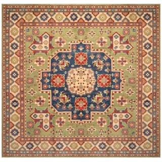 Handmade Kazak Wool Rug (Afghanistan) - 9'11 x 9'8