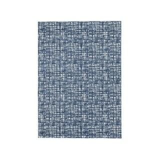 Signature Design by Ashley Norris Blue/White Color Block Beach Rug - 5' x 7'