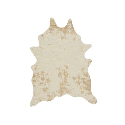 Jaxith Animal Faux Rawhide Rug - 5' x 7'