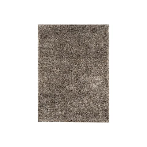 Wallas Brown Wool Shag Rug - 8' x 10'