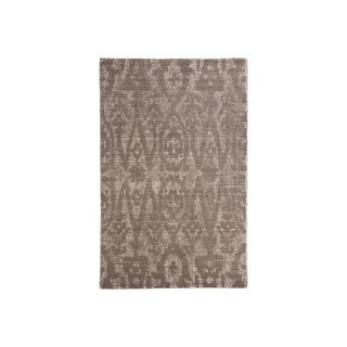 Hand-Woven Finney Brown Wool Rustic Rug - 8' x 10'