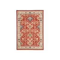 Signature Design by Ashley Hand-Tufted Forcher Red Wool Moroccan Rug - 8' x 10'