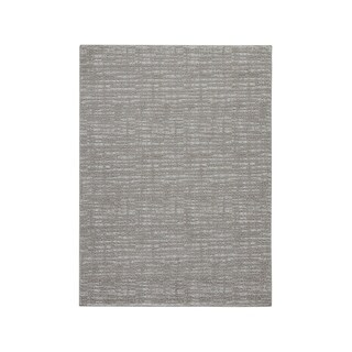 Norris Taupe/White Solid Casual Rug - 5' x 7'