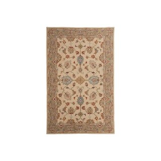 Signature Design by Ashley Hand-tufted Yarber Sahara Border Wool Rug - 5' x 8'
