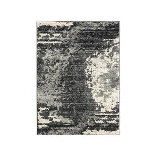 Signature Design by Ashley Roskos Black/Gray Abstract Eclectic Rug - 5' x 7'