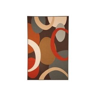 Signature Design by Ashley Acciai Brown/Blue Geometric Contemporary Rug - 4' x 7'