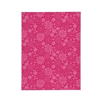 Signature Design by Ashley Jayleen Fuchsia Botanical Kids & Tween Rug - 5' x 7'