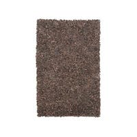 Signature Design by Ashley Hand-Woven Frere Brown Solid Leather Rug - 5' x 8'