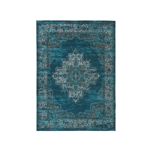Shop Moore Blue/Teal Overdyed Bohemian Rug