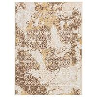 Signature Design by Ashley Jariath Ivory/Brown Abstract Farmhouse Rug - 4' x 7'