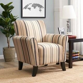 Havenside Home Howard Brown and Black Stripe Arm Chair