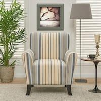 Havenside Home Howard Blue Stripe Arm Chair