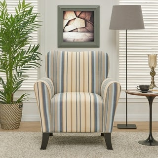 Bon Havenside Home Howard Blue Stripe Arm Chair