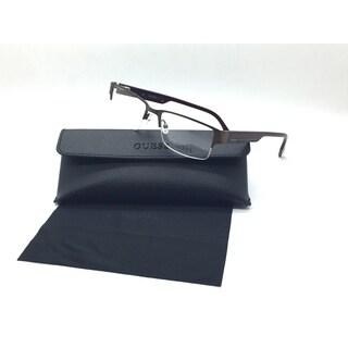 Guess Unisex Brown Rectangular New Eyeglasses GU 1818 BRN 53 Metal