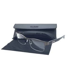 Guess Unisex Gunmental Rectangular New Eyeglasses GU 009 54 Metal