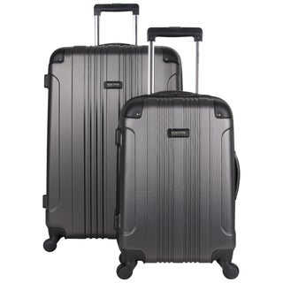 "Kenneth Cole Reaction ""Out of Bounds"" 2-Piece Lightweight Hardside Upright Spinner Luggage Set (Option: Charcoal)"