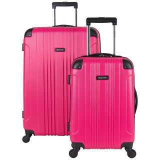 "Kenneth Cole Reaction ""Out of Bounds"" 2-Piece Lightweight Hardside Upright Spinner Luggage Set (Option: magenta)"