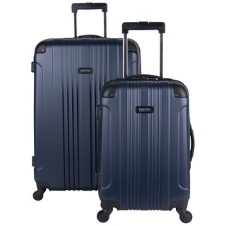 "Kenneth Cole Reaction ""Out of Bounds"" 2-Piece Lightweight Hardside Upright Spinner Luggage Set (Option: indigo navy)"