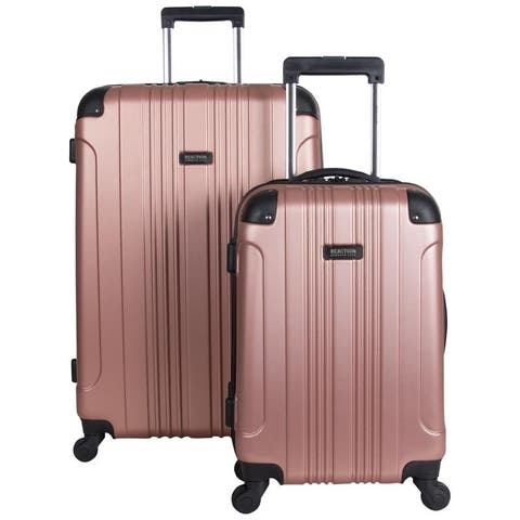 "Kenneth Cole Reaction ""Out of Bounds"" 2-Piece 20in/28in Lightweight Hardside 4-Wheel Spinner Luggage Set - Multiple Colors"