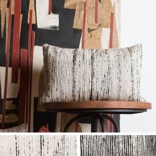 Recycled Sari Silk Stripe Rectangle 13 x 21 Throw Pillow or Pillow Cover