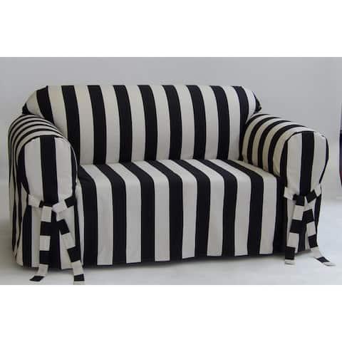 Classic Slipcovers Cabana Stripe One Piece Sofa Slipcover