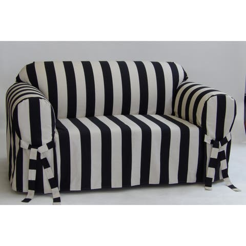 Classic Slipcovers Cabana Stripe One Piece Sofa Slipcover