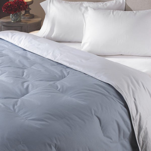 shop luxury twin size reversible down comforter free shipping today overstock 2082202. Black Bedroom Furniture Sets. Home Design Ideas