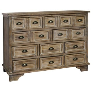 Henderson Weathered Oak Mango Wood 10-drawer Chest