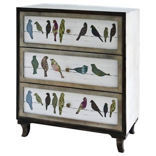 Mutil-color Wood 3-drawer Painted Chest