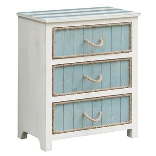 South Shore Blue and White 3-drawer Accent Chest
