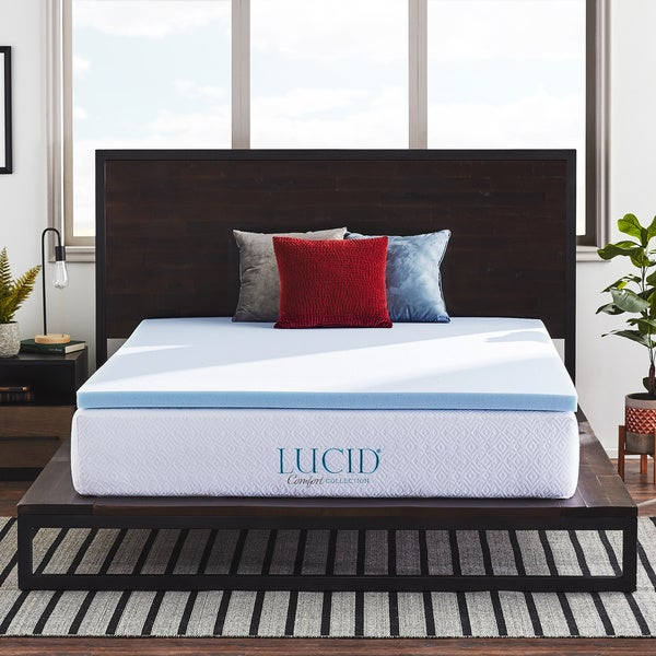2-inch SureCool™ Gel Infused Memory Foam Mattress Topper by LUCID® Comfort Collection