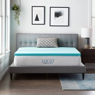 LUCID Comfort Collection 2-Inch Gel Infused Memory Foam Mattress Topper