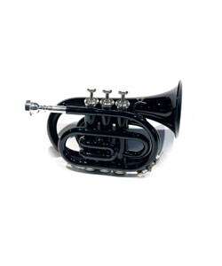 School Band Black Pocket Trumpet