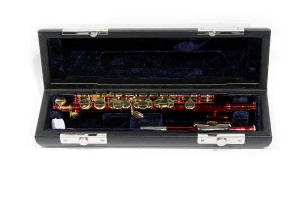 Red and Gold School Band Piccolo with Case