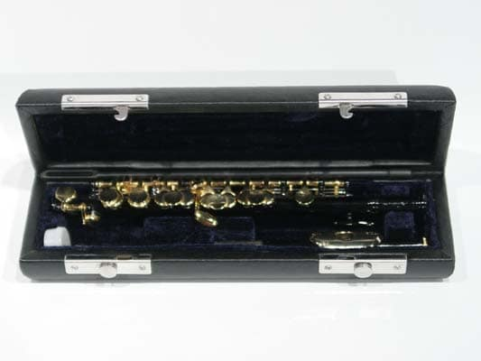 Black and Gold School Band Piccolo with Case