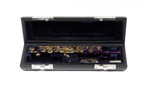 Purple and Gold School Band Piccolo