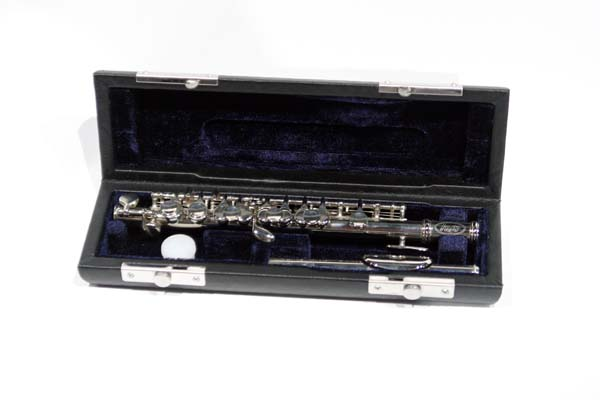 School Band Nickel-plated Piccolo with Case