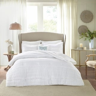 Link to Copper Grove Burwell White Comforter Set Similar Items in Comforter Sets