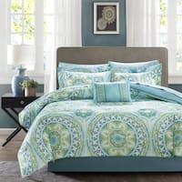 The Curated Nomad La Boheme Aqua Complete Comforter and Cotton Sheet Set