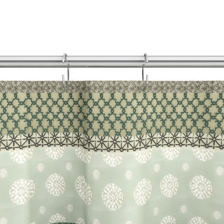 The Gray Barn Mission Creek Cotton Green Shower Curtain