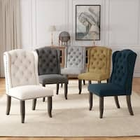 "Furniture of America Telara Tufted Wingback Dining Chair (Set of 2) - 22 1/2""W X 26 3/4""D X 42 1/2""H"