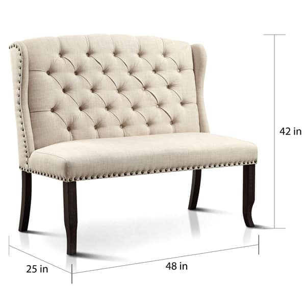 Outstanding Shop Telara Tufted Wingback Loveseat Dining Bench By Foa Pabps2019 Chair Design Images Pabps2019Com