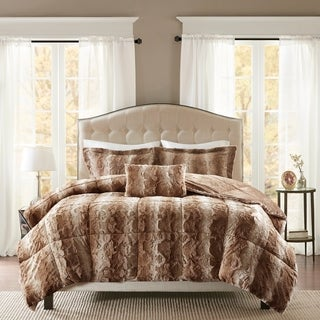 Pine Canopy Geneva Faux Fur Comforter Set (More options available)