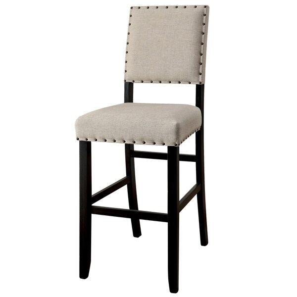 Furniture of America Tays Contemporary Black Bar Chairs (Set of 2). Opens flyout.
