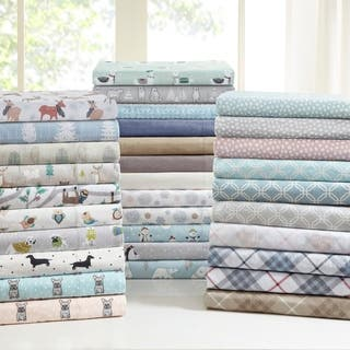 Taylor & Olive Heron Flannel Cotton Sheet Set
