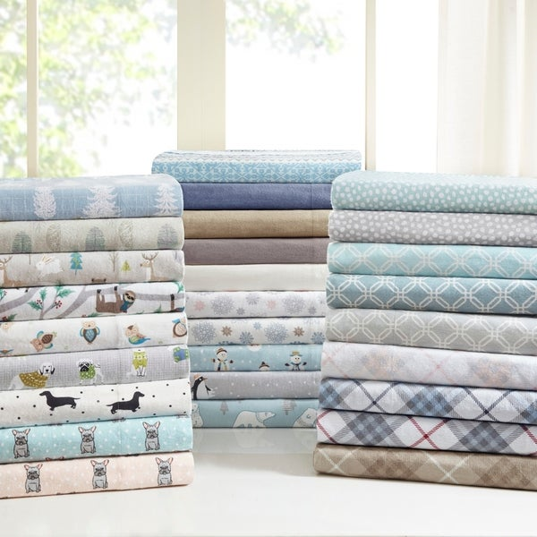 Pine Canopy Little River Flannel Cotton Sheet Set