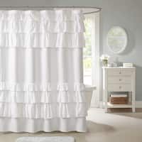 Copper Grove Elora Ruffled Shower Curtain