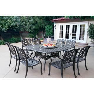 Havenside Home Sackville Cast Aluminum 10-piece Dining Set - Antique Bronze