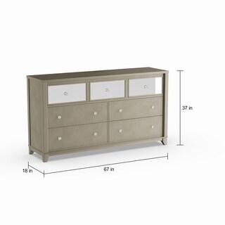 Silver Orchid Gerrard Modern Crocodile Silver 7-drawer Dresser