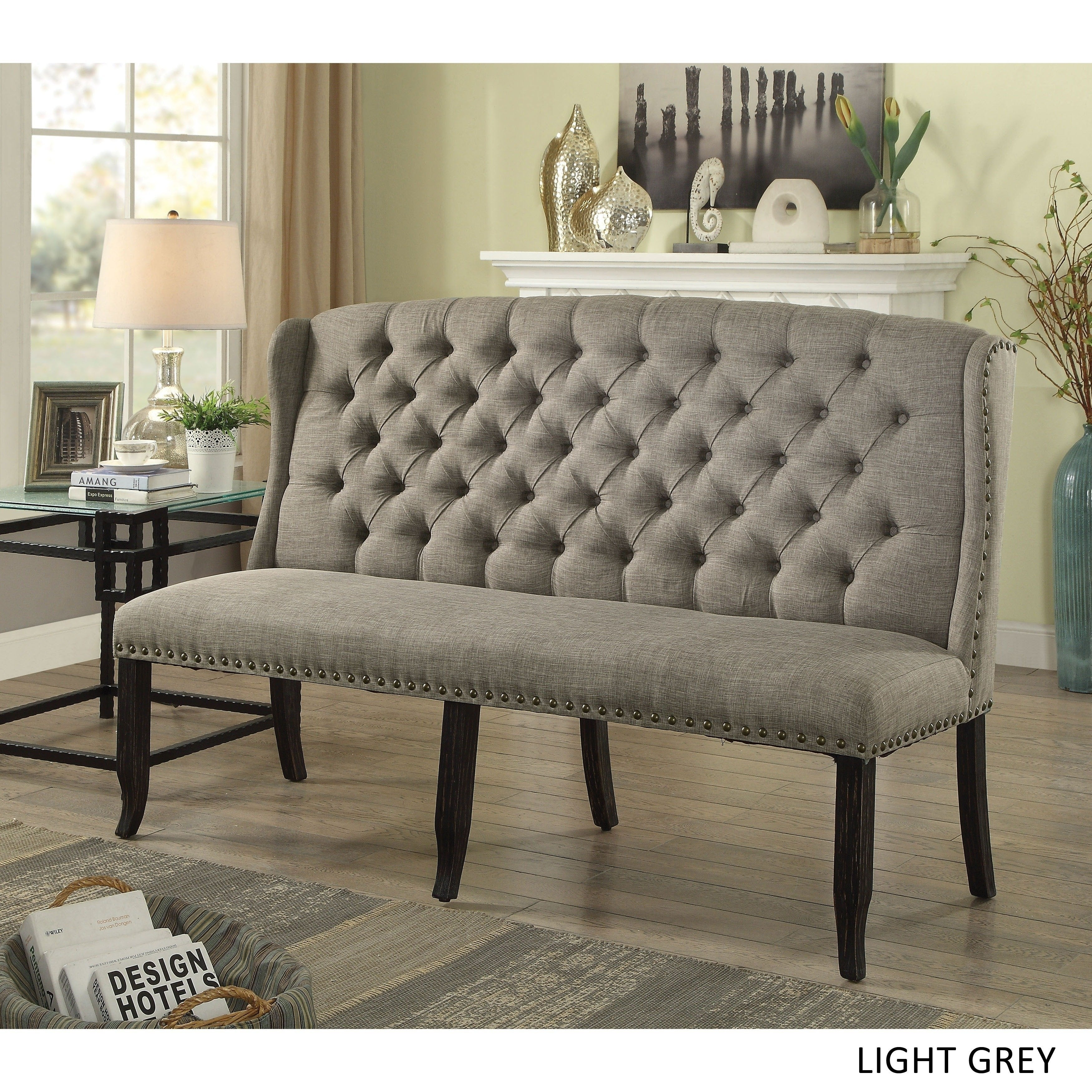 Amazing Telara Transitional Tufted Wingback 3 Seater Loveseat By Foa Alphanode Cool Chair Designs And Ideas Alphanodeonline